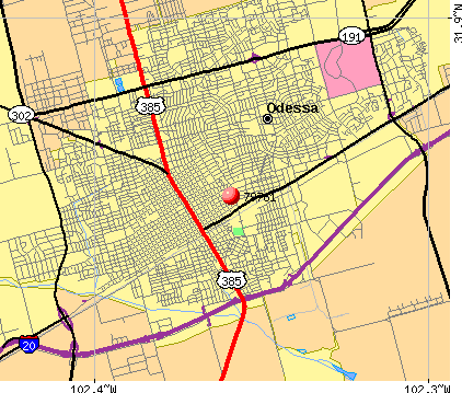 Odessa, TX (79761) map