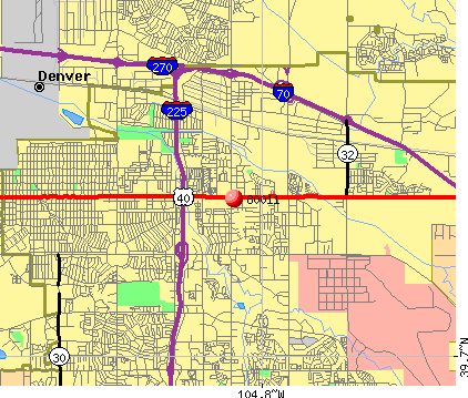 Aurora, CO (80011) map