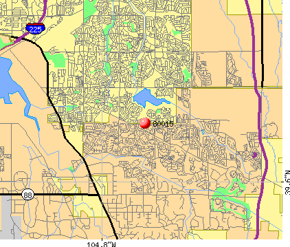 Centennial, CO (80015) map