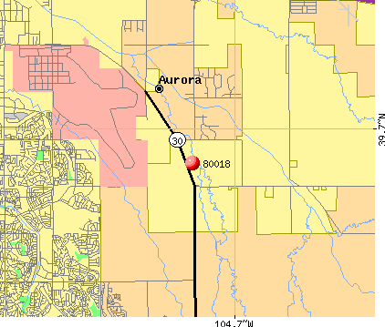 Aurora, CO (80018) map