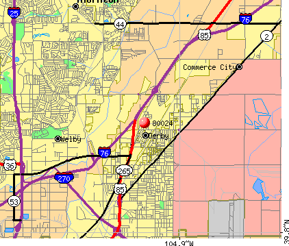 Derby, CO (80024) map