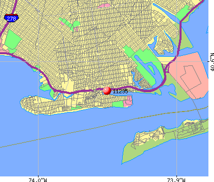New York, NY (11235) map