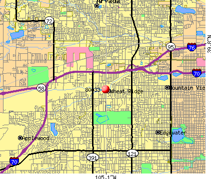 Wheat Ridge, CO (80033) map