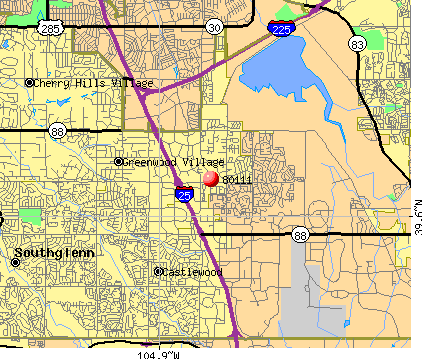 Greenwood Village, CO (80111) map