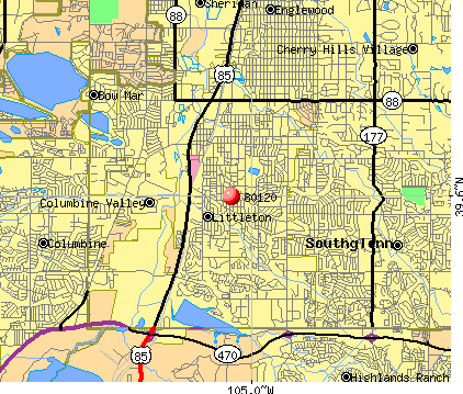 Littleton, CO (80120) map