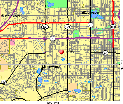 Lakewood, CO (80226) map