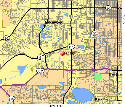 Lakewood, CO (80227) map