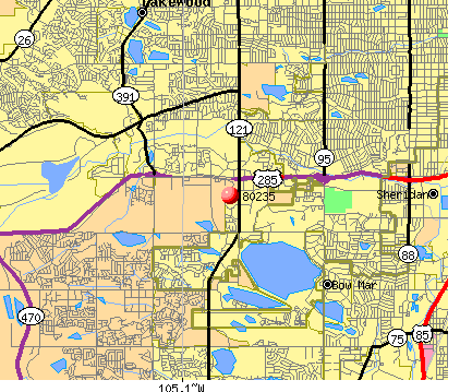 Lakewood, CO (80235) map