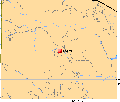 Coal Creek, CO (80403) map