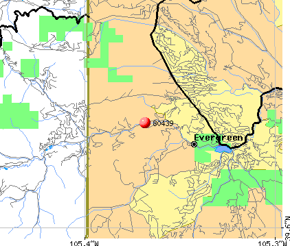 Evergreen, CO (80439) map