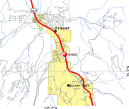 Winter Park, CO (80482) map