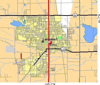 Longmont, CO (80501) map