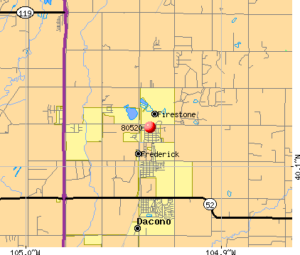 Firestone, CO (80520) map