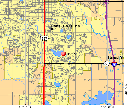 Fort Collins, CO (80525) map