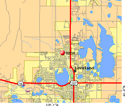 Loveland, CO (80538) map