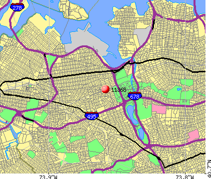 New York, NY (11368) map