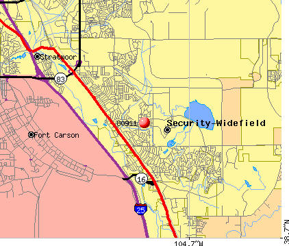 Security-Widefield, CO (80911) map