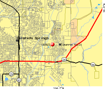 Cimarron Hills, CO (80915) map
