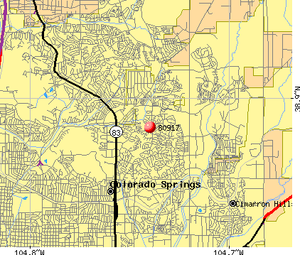 Colorado Springs, CO (80917) map