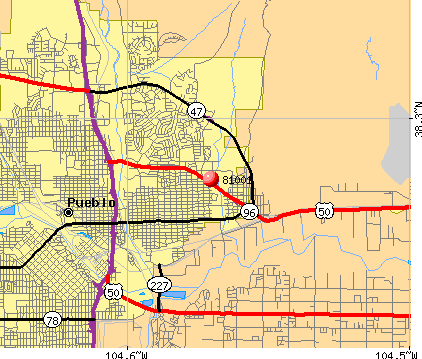 Pueblo, CO (81001) map