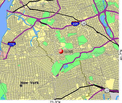 New York, NY (11385) map