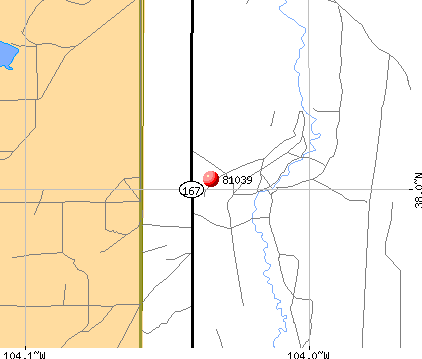 Fowler, CO (81039) map
