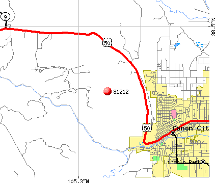 Canon City, CO (81212) map