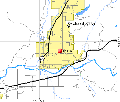 Orchard City, CO (81410) map
