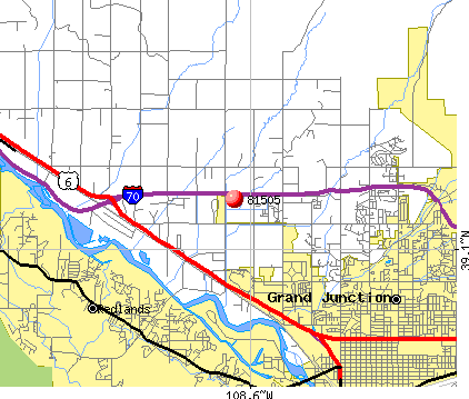 Grand Junction, CO (81505) map