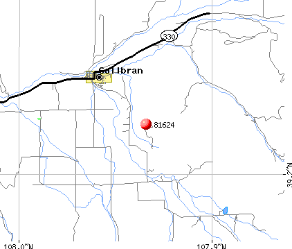 Collbran, CO (81624) map