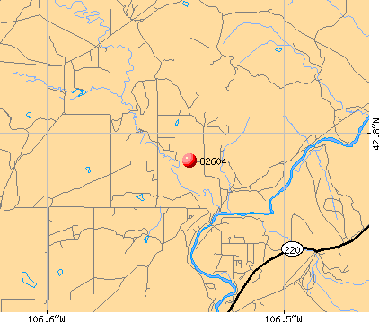 Casper, WY (82604) map