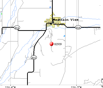 Mountain View, WY (82939) map