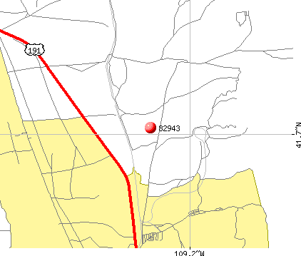 Reliance, WY (82943) map