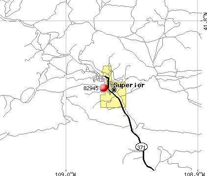 Superior, WY (82945) map