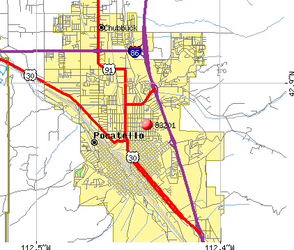 Pocatello, ID (83201) map