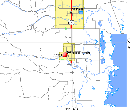 Bloomington, ID (83223) map