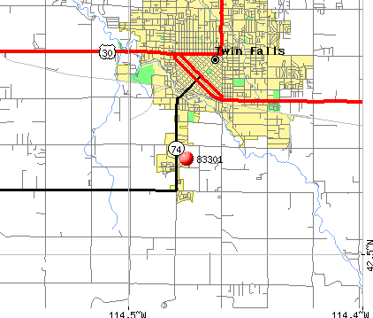 Twin Falls, ID (83301) map