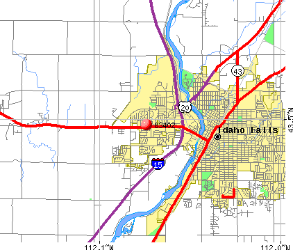 Idaho Falls, ID (83402) map
