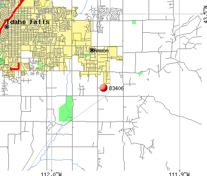 Ammon, ID (83406) map