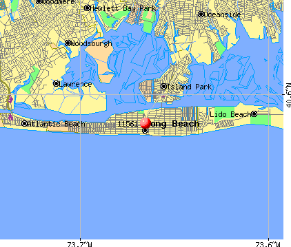 Long Beach, NY (11561) map