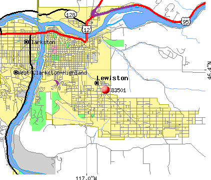 Lewiston, ID (83501) map
