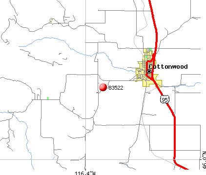 Cottonwood, ID (83522) map