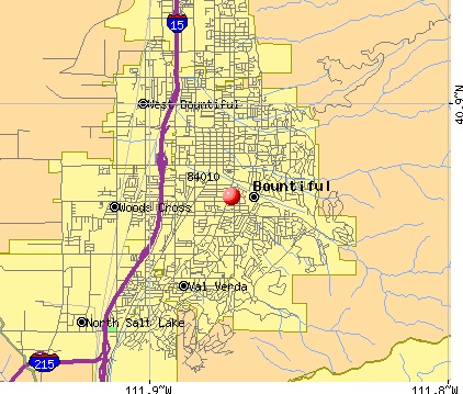 Bountiful, UT (84010) map