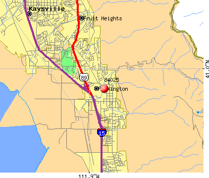 Farmington, UT (84025) map
