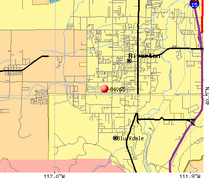 Bluffdale, UT (84065) map
