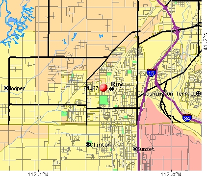 Roy, UT (84067) map