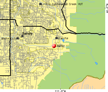 Sandy, UT (84092) map