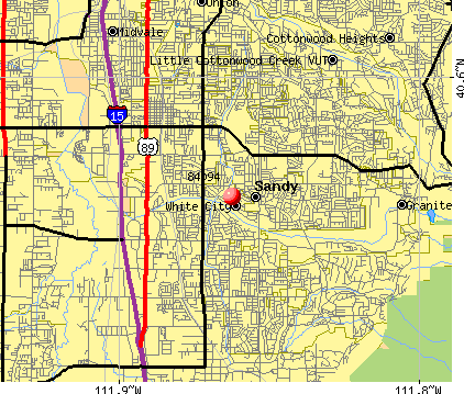 Sandy, UT (84094) map