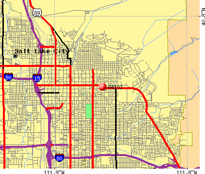 Salt Lake City, UT (84102) map