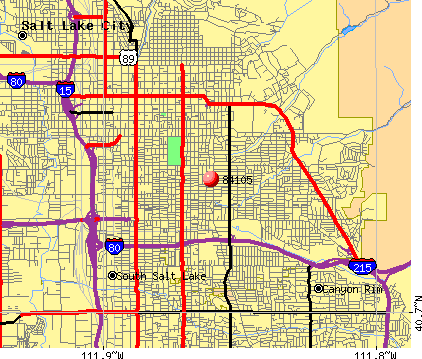 Salt Lake City Zip Codes Map | Zip Code MAP